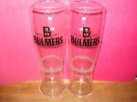 BULMERS Cider Draught Pint glasses x 2 New/Unused