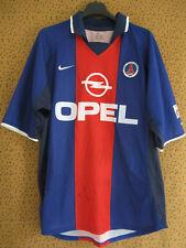 Maillot PSG Paris Saint Germain OPEL 2000 dédicacé Nike Vintage - M