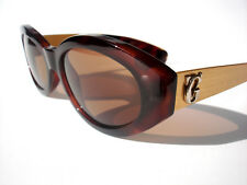 Vintage Gianni Versace sunglasses 461A Brown Gold COL 900 Authentic w/case