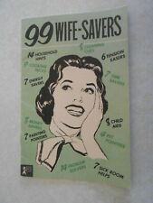99 Wife-Savers 1958 Household Hints booklet