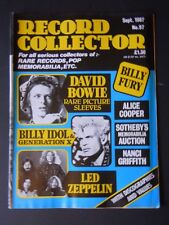 Record Collector Magazine No. 97 (Sept 1987) - David Bowie - Led Zeppelin