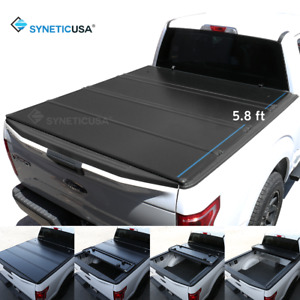 Waterproof Hard Tonneau Cover For 2019-2021 Silverado Truck Bed 5.8FT Quad-Fold