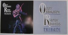 Ozzy Osbourne Randy Rhoads Two (2) Tribute Promo Display Flat Posters 2 sided Nm