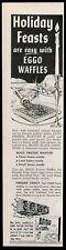 1959 Eggo Waffles Christmas holiday theme vintage print ad