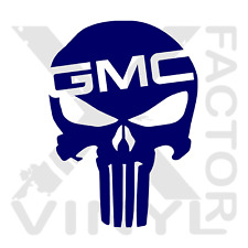 GMC Punisher Skull Dicut Vinyl Decal 14 Color 3 Size Canyon Sierra HD Duramax