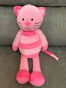 M&S Marks and Spencer My First Cara Cat Pink Striped Soft Toy 34cm #2343501