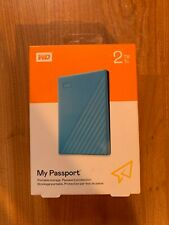WD 2TB My Passport Portable Storage USB 3.2 Blue - WDBYVG0020BBL-WESN