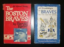 2 Boston Braves Books, Both SIGNED by Authors + Players + WARREN SPAHN HOF, 1948