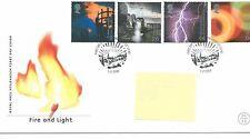 GB-Primer Día Cubierta Fdc-Commems -2000 - feb-Fire & Light-PMK Edimburgo