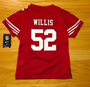 Patrick Willis #52 San Francisco 49ers NFL Nike Red Jersey Girls(Size S/7~8)