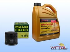 ORIGINAL MANN-FILTER ÖLFILTER W67/1+5 Liter HIGHTEC SUPER LEICHTLAUF SAE 10W-40