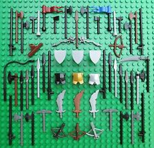 Lego CASTLE WEAPON SPARES Knights Bow Spear Axe Shield Sword Flag Crossbow Lance