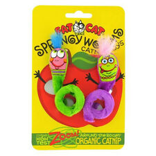 FATCAT SPRINGY WORMS SPRING ORGANIC CATNIP CAT TOY 2PACK AUTHENTIC. USA