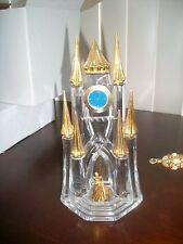 Franklin Mint Disney Cinderella Clock Castle Crystal Retired RARE HTF LAST 1