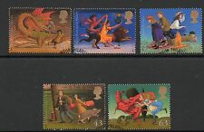 GB 1998 Famous Children's Fantasy Novels fine used set stamps