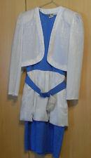 Kleid - Cocktailkleid - Blau-Weiß - Gr. 38  -  gebraucht - mit Bolero