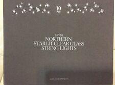 Restoration Hardware Silver Northern Starlit Clear Glass String Lights 10' NIB!