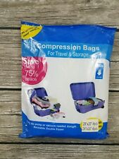 New 8 Pcs Compression Bags For Travel Storage Ait Tight No Vacuum Needed