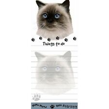 Himalayan Cat Tall Magnetic Notepad