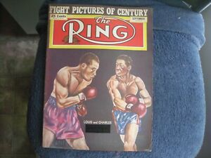 SEPTEMBER 1951 THE RING  MAGAZINE WITH JOE LOUIS VS CHARLES       GROBEE1957