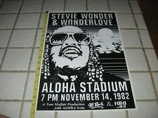 Stevie Wonder Wonderlove Concert Poster Aloha Stadium Honolulu Hawaii 1982 VTG