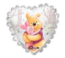 Valentine's Day Winnie the Pooh & Piglet HUGS Heart  Birthday Party Balloon
