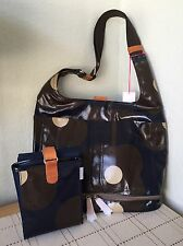 ORLA KIELY ETC ABACAS FLOWER PRINT NAVY BABY BAG AND CHANGING MAT BNWT VERY RARE
