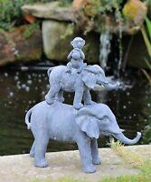 Garden Ornament Elephant Outdoor Monkey Indoor Statue Animals Decor Sculpture