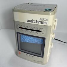 Vintage Sony Mega Watchman White FD-510 AM/FM TV With Power Cable