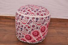 Indian Bohemian Mandala Ottoman Cover Ethnic Traditional Vintage Pouf Footstool