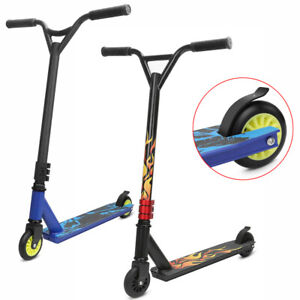 PRO STUNT SCOOTER KIDS ADULT PUSH KICK STREET TRICK SCOOTERS FIXED BAR 360° SPIN
