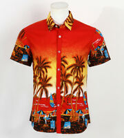 Hot LARGE SIZE Men Aloha Shirt Cruise Tropical Luau Beach Hawaiian Party Palm