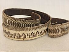 Women's SNAKE Skin Belt STRAP 1 inch X 33 inches EXOTIC SNAP OFF