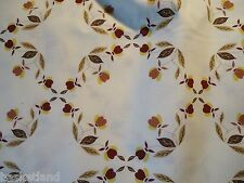 HALL VINTAGE AUTUMN LEAF JEWEL TEA FABRIC •100% COTTON •