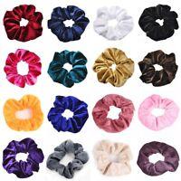 5pcs Velvet Scrunchies Ponytail Holder Hair Accessories Lot Elastic Hair Band