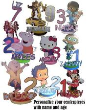 Personalized Birthday Party Centerpiece Name and Age