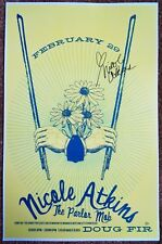 Signed NICOLE ATKINS Gig POSTER In-Person w/proof Oregon Concert Autograph