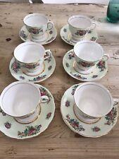 colclough Floral porcelain china tea set cups & saucers