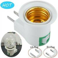 E27 Plug-in Screw Base Light Bulb Lamp Socket Holder Adaptor US/EU Plug White
