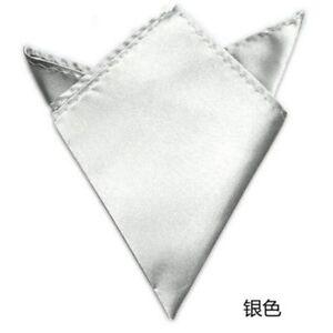 Satin Solid Pocket Square Wedding Hanky Handkerchief Fashion Accessories