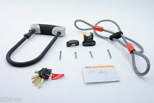 XLC Bicycle U-Lock and Cable Combo