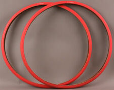 Pair Super HP 700x25 Red Road Fixed Gear Track Bike Tires MSRP $54 New Old Stock