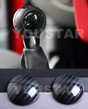 UK STOCK 2x Carbon Effect MT Gear Knob Badges MINI Cooper Countryman F56 F57 F60