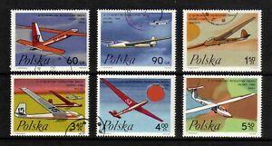 Poland 1968 World Gliding Championships complete set of 6v. (SG 1826-1831) used