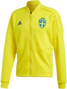 adidas MEN'S SWEDEN ZNE JACKET FOOTBALL SOCCER WORLD CUP YELLOW 2018 NEW BNWT