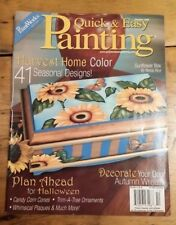 QUICK & EASY PAINTING PATTERN BOOK OCTOBER 2006 FREE SHIPPING