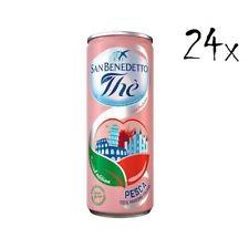 24x San benedetto Eistee Pfirsch The' Pesca Dose 330 ml tea the erfrischend