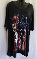 Black Jack T Shirt Size 2 XL NWT Black Graphic American Tropic Cotton Blend
