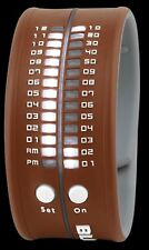 BLOX Timestrap Uhr braun Armbanduhr Binäruhr Armband UVP89€ LED Anzeige BX15015