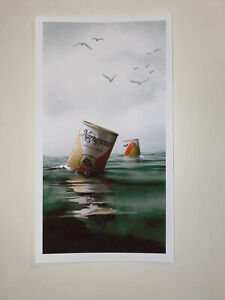 JC Richard Mini Print Poster Jaws Narragansett Giclee Limited Edition Signed!